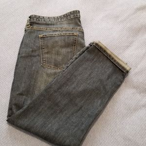Gap Boyfriend Jeans with rolled cuff size 18
